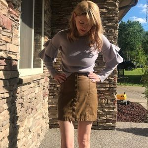 Free people faux leather mini skirt size 0
